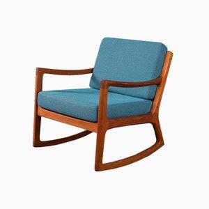Sedia a dondolo di Ole Wanscher per Cado, Danimarca, anni '60