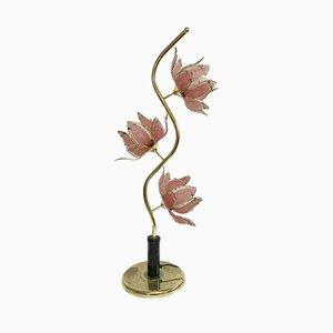 Vintage Lotus Table Lamp, 1980s