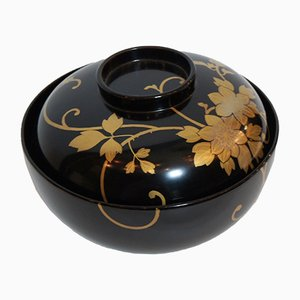 Vintage Wajima-Nuri Soup Tureen with Lid, 1930s