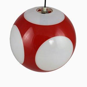 Lámpara colgante esférica de plástico de Luigi Colani, años 70