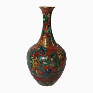 Japanische Kutani Ware Vase von Aoki Mokubei, 1950er