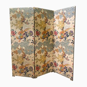 Antique French Silk Room Divider