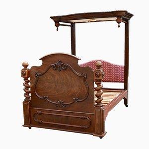 Antikes Doppelbett aus Mahagoni