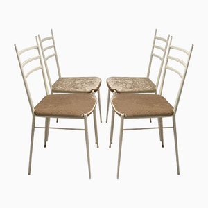 Italian Brass and Iron Dining Chairs by Gio Ponti, 1950s, Set of 4
