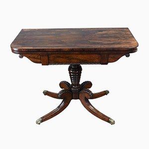 Mesa de juegos Regency antigua de palisandro
