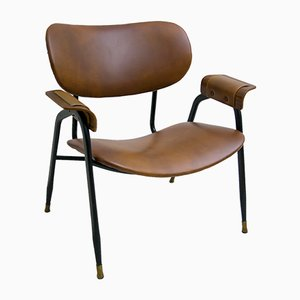 Leather Lounge Chair by Gastone Rinaldi for Rima, 1960s