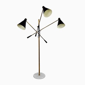 Italian Adjustable 3-Arm Floor Lamp from Stilnovo, 1950s