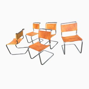 Vintage S33 Cantilever Chairs from Thonet, 1970s, Set of 5