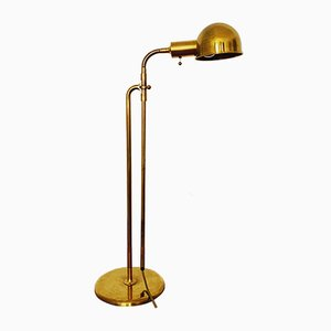 Modernist German Brass Floor Lamp by Florian Schulz, 1970s