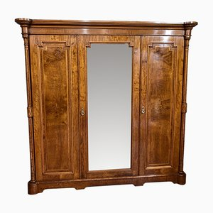 Antique Oak Triple Wardrobe