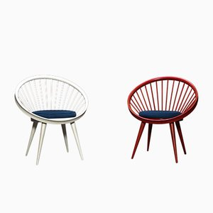 Circle Armchairs by Yngve Ekström for Swedese, 1960s, Set of 2