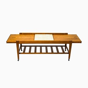 Ceramic and Teak Coffee Table from Remploy, 1960s