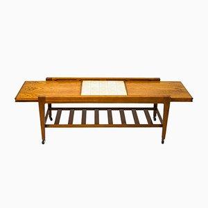 Table Basse en Céramique et en Teck de Remploy, 1960s