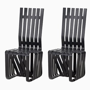 Postmoderne Stühle aus Ahornholz von Frank Gehry für Knoll International, 1993, 2er Set
