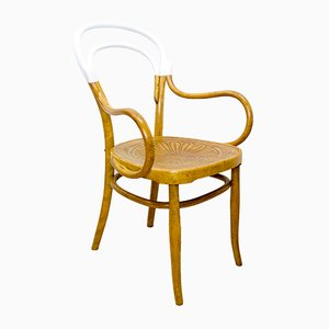 Antique Bentwood and Oak Armchair from Jacob & Josef Kohn