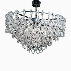 Italian Murano Glass Chandelier from Leucos, 1960s