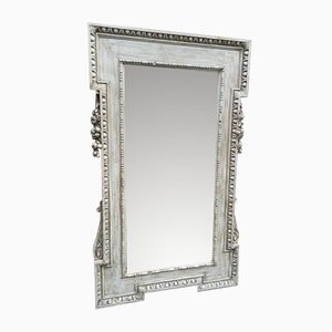 Large Antique French Wood & Gesso Mirror