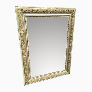 Antique French Carved Wood & Gesso Mirror