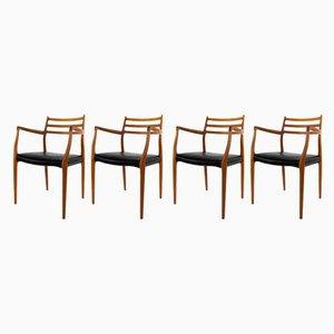 Chaises de Salle à Manger Modèle 62 par Niels O. Møller pour JL Mollers, 1962, Set de 4