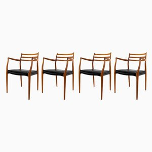 Model 62 Dining Chairs by Niels O. Møller for J.L. Mollers, 1962, Set of 4