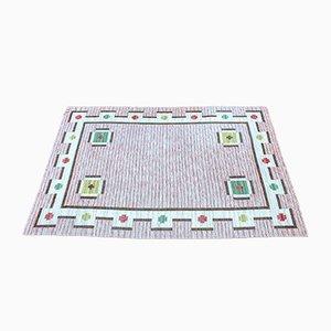 Großer flachgewebter schwedischer Teppich, 1950er
