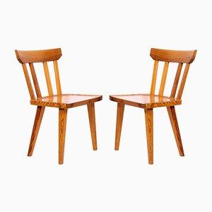 Mid-Century Esszimmerstühle aus Kiefernholz von Carl Malmsten für Karl Andersson & Söner, 1960er, 2er Set