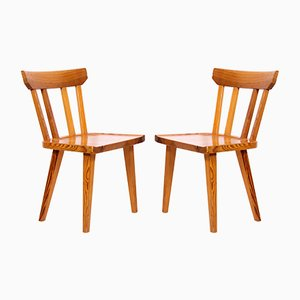Mid-Century Pine Dining Chairs by Carl Malmsten for Karl Andersson & Söner, 1960s, Set of 2