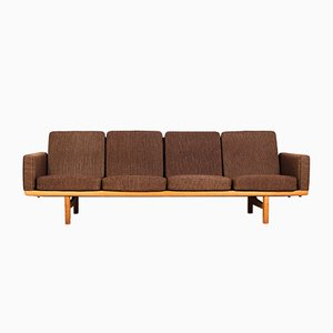 Mid-Century Danish Oak GE-236/4 Sofa by Hans J. Wegner for Getama, 1953