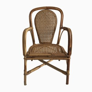Vintage Rattan Children's Chair, 1920s