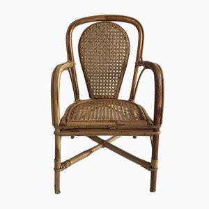 Vintage Rattan Children's Chair, 1920s
