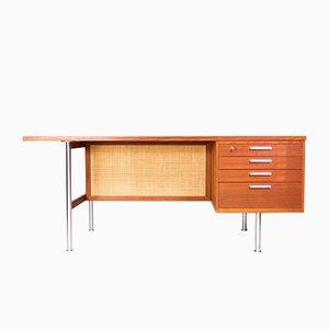 Large Mid-Century Danish Teak Desk by Kai Kristiansen for Feldballes Møbelfabrik, 1950s