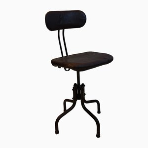 Industrial Cast Iron and Steel Engineer's Chair, 1950s