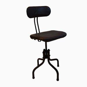 Industrieller Stuhl aus Gusseisen und Stahl, 1950er