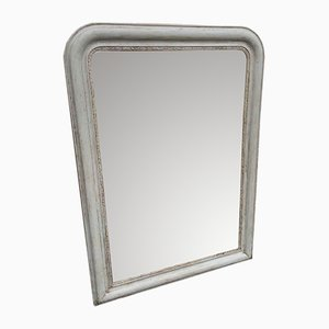 Antique French Painted Mirror with Arched Top