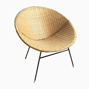 Mid-Century Sessel aus Rattan, 1960er