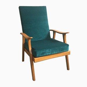 Mid-Century Sessel in Hellgrün, 1950er