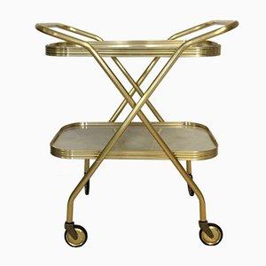 Plastic and Anodized Aluminum Serving Bar Cart, 1960s