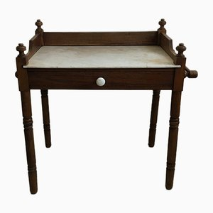 Antique Wood & Marble Dressing Table