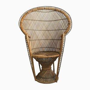 Mid-Century Armlehnstuhl aus Rattan, 1960er