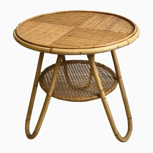 Mid-Century Rattan and Bamboo Coffee Table, 1960s