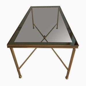 Vintage Metal & Smoked Glass Coffee Table, 1980s