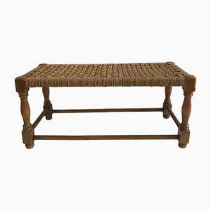 Vintage Sitzbank aus Holz & Seil, 1970er