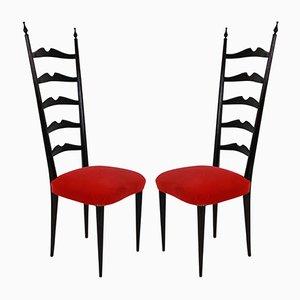 Chaises d'Appoint par Paolo Buffa, 1940s, Set de 2