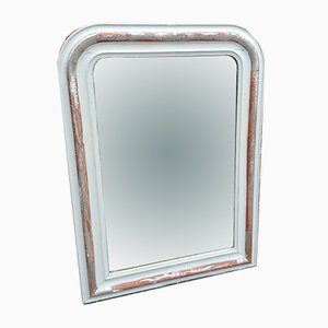 19th Century French Silvered and Painted Mirror