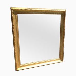 Specchio in legno intagliato e gesso, XIX secolo