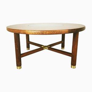 Tavolino da caffè in ottone e teak di G-Plan, anni '70