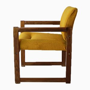 Mid-Century French Oak Lounge Chairs, 1960s, Set of 4