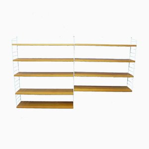 Mid-Century Scandinavian Modern Style Metal & Teak Shelving Unit by Kajsa & Nils Strinning for String