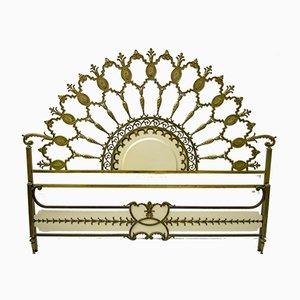 Mid-Century Italian Brass Bed, 1960s