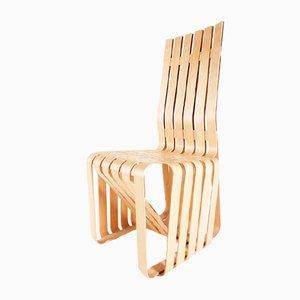 Sedia postmoderna in acero di Frank Gehry per Knoll International, 1993